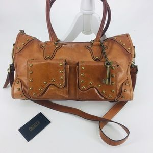 Be&D Western Studded Leather Large Tote Bag